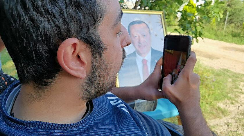 Bursada yaşayan bedensel engelli Emirin Erdoğanla görüşme hayali gerçek oldu