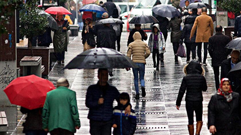 İstanbul ve 25 ile kuvvetli yağış uyarısı! İstanbul, Kocaeli, Sakarya, Bursa, Ankara, Denizli hava durumu