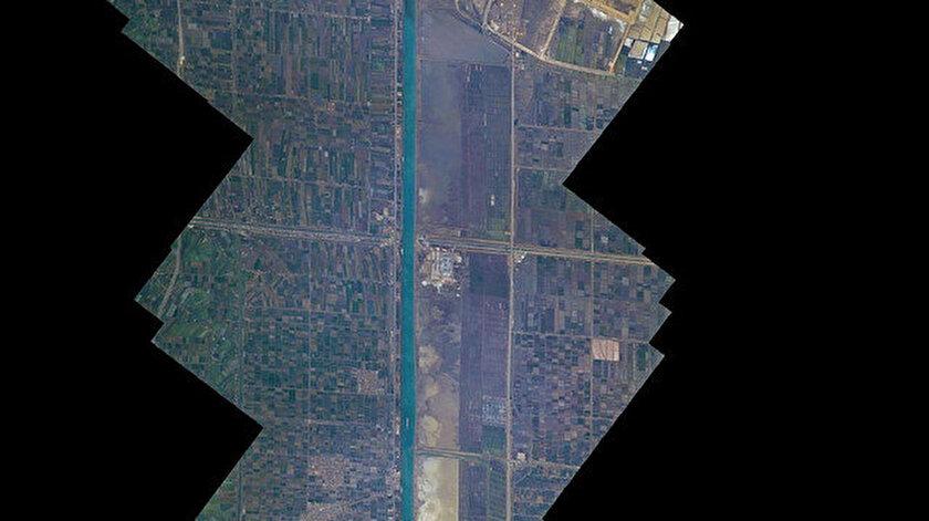 Süveyş Kanalı uzaydan görüntülendi: Fransız astronot paylaştı