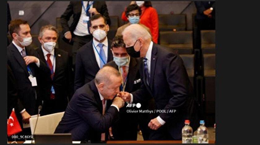 AFP ve Reuters'tan yeni algı çalışması: Cumhurbaşkanı Erdoğan-Biden  görüşmesini bu fotoğrafla servis ettiler - Yeni Şafak