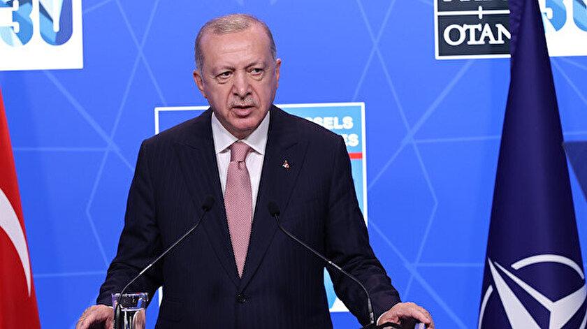 Cumhurbaşkanı Erdoğan NATO Zirvesi sonrası konuştu | Cumhurbaşkanı Erdoğan: Bidena S-400 ve F-35 konusundaki görüşlerimizin değişmediğini söyledim