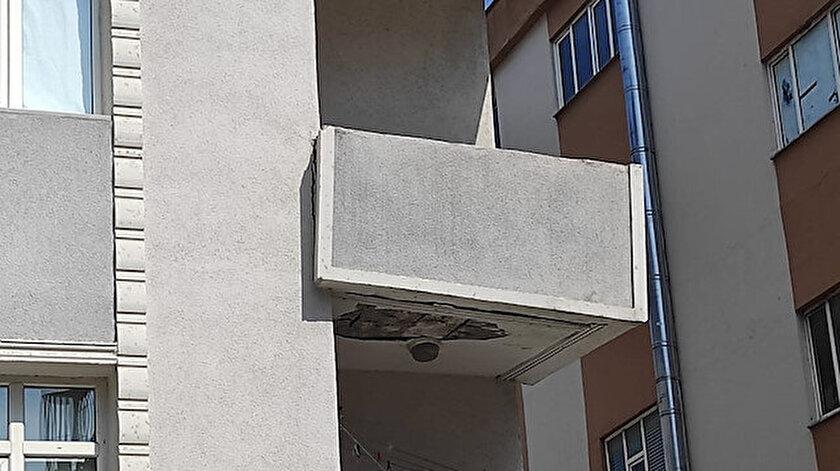İstanbul Güngörende çatlaklar oluşan 4 katlı bina boşaltıldı