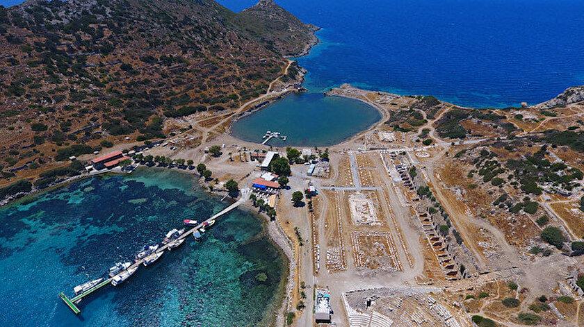 Antik dönemin kültür ve sanat merkeziydi: Ege ve Akdenizi birleştiren Knidos ziyaretçilerini bekliyor