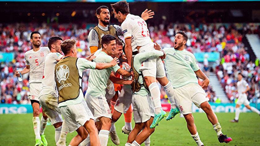 Sekiz golün atıldığı maçta İspanya çeyrek finale yükseldi