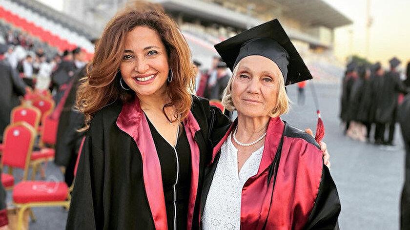 74lük Nimet teyze tıp fakültesinden mezun oldu