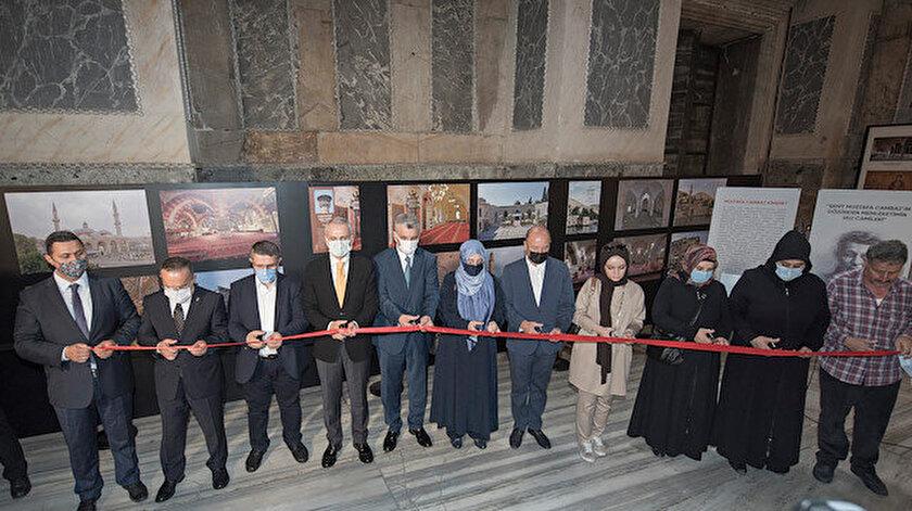 Şehit Mustafa Cambaz'ın hayali gerçek oldu: Ayasofya Camiinde Memleketimin Ulu Camileri fotoğraf sergisi açıldı