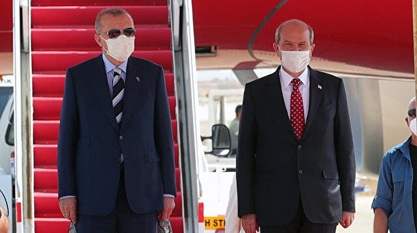Tarihi KKTC çıkarması: Cumhurbaşkanı Erdoğana coşkulu karşılama