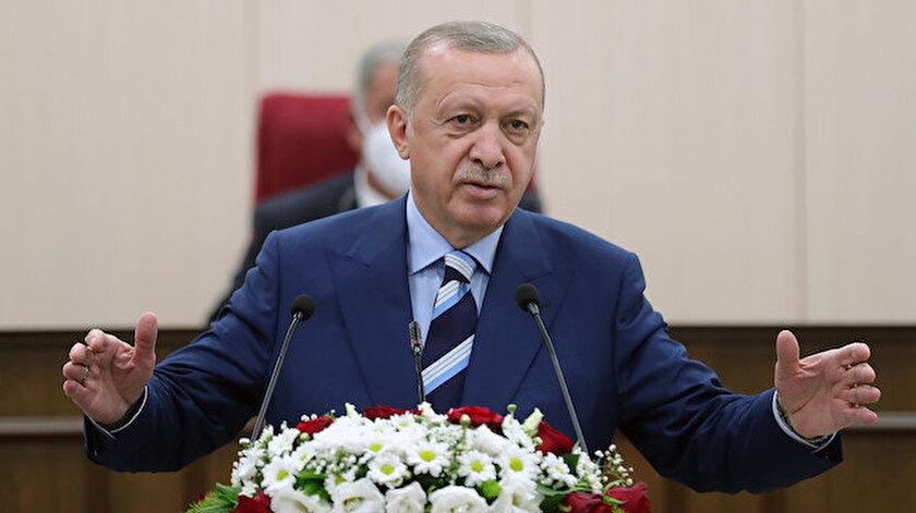 Cumhurbaşkanı Erdoğan KKTC Meclisinde müjdeyi verdi: KKTC Cumhurbaşkanlığı Külliyesinin inşasına yakında başlıyoruz