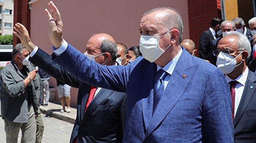 Cumhurbaşkanı Erdoğan: Kuzey Kıbrıs ayağa kalkıyor