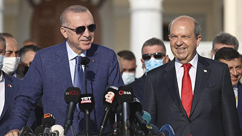 Cumhurbaşkanı Erdoğandan KKTCde bayram mesajı: Artık Kıbrıs Türkü diyoruz