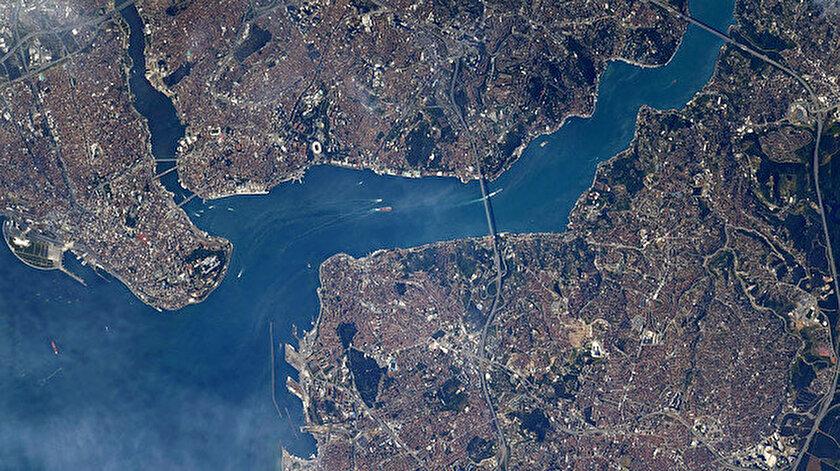 ABDli astronot İstanbulun uzaydan çekilmiş görüntülerini paylaştı