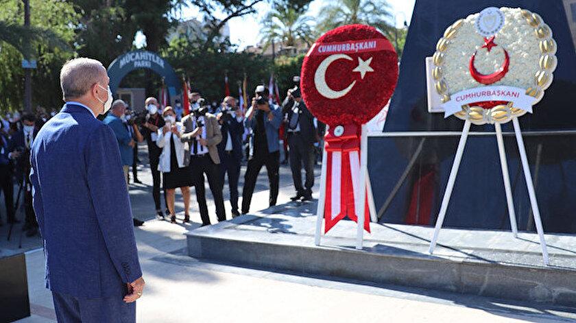 Cumhurbaşkanı Erdoğan Lefkoşada: Düzenlenen törene katıldı