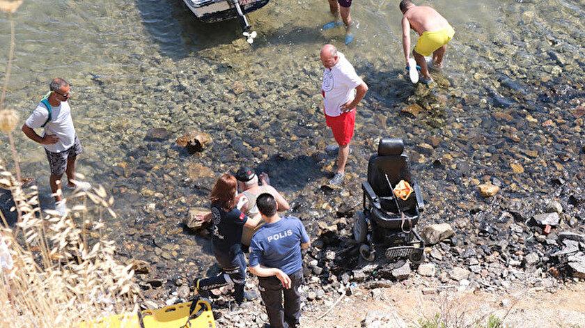 İzmir haber: Mucize kurtuluş... Tekerlekli sandalyesi ile uçuruma yuvarlanıp, yaralandı