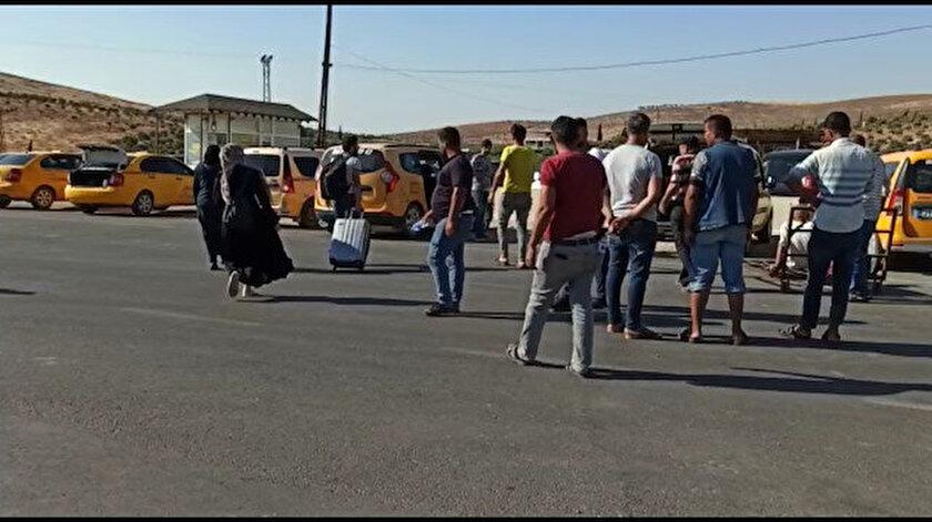 Bayramda memleketlerine giden Suriyeliler akın akın Türkiyeye dönüyor
