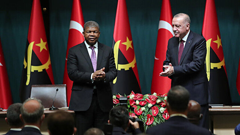 Canlı yayın: Cumhurbaşkanı Erdoğan Angola Cumhurbaşkanı Laurenço ile ortak basın toplantısı düzenliyor