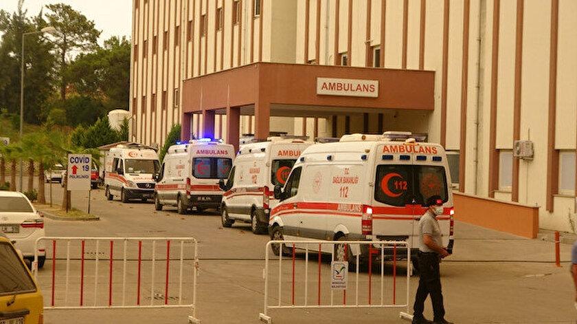 Manavgattaki yangında son durum: Devlet Hastanesindeki 10 entübe hasta tedbir amaçlı sevk edildi