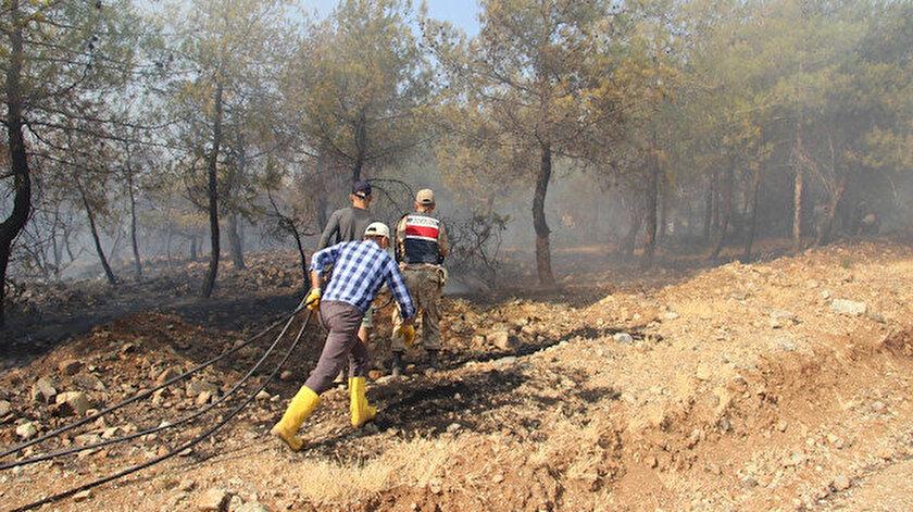 Kiliste kontrol altına alınan orman yangını yeniden alevlendi