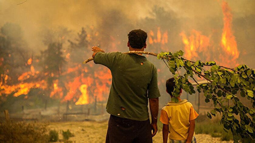 Cumhurbaşkanı Erdoğandan orman yangınlarıyla ilgili açıklama: Devlet vatandaşı için tüm imkanlarıyla seferber halde