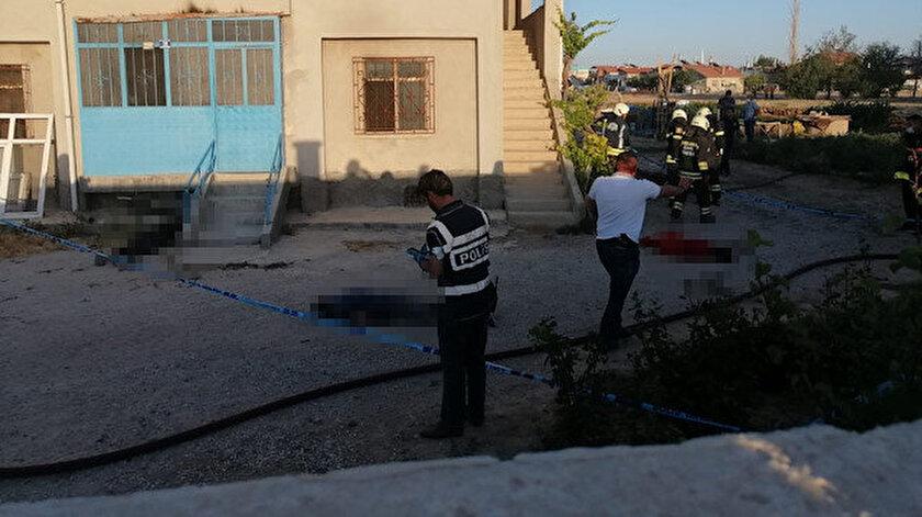 Konyada bir eve silahlı saldırı düzenleyen saldırgan 7 kişiyi katletti ve evi ateşe verdi