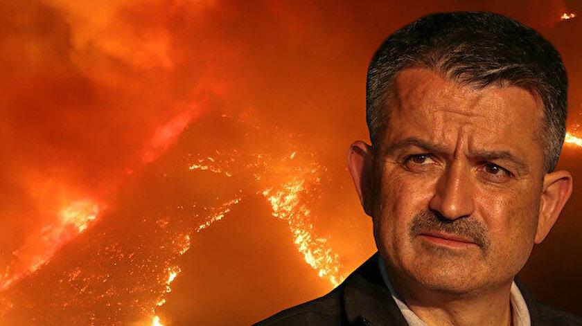 Son dakika haberi: Bakan Pakdemirli duyurdu: 42 yangın kontrol altında 21 yangın devam ediyor