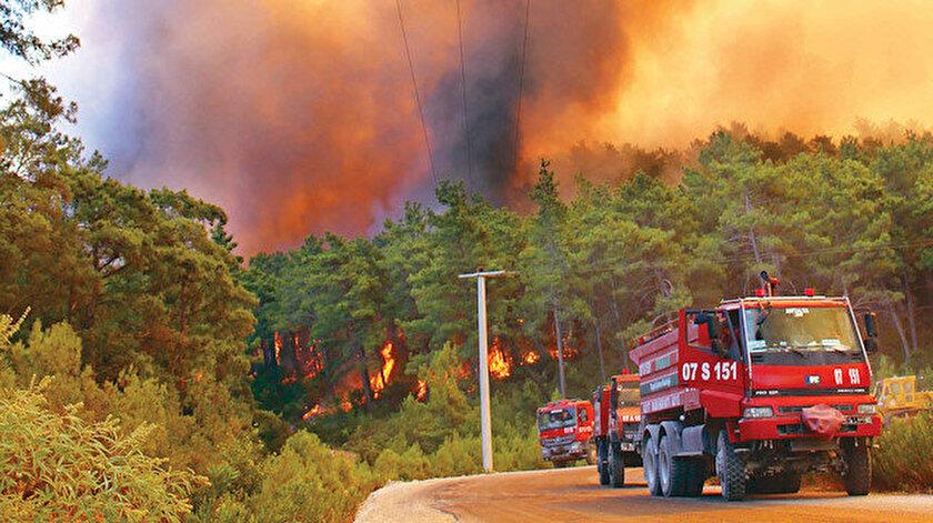 Hakkınız ödenmez: Yurt genelindeki 101 orman yangınının 92'si kontrol altına alındı