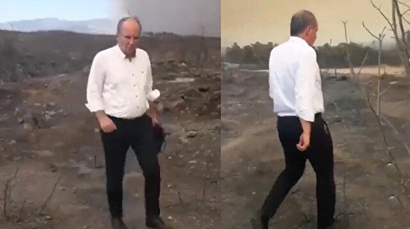 Yangın bölgesinde fotoğraf çektirip ayrılan Muharrem İnceye tepki: Poz verme icraat yap