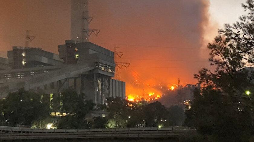 Milasta büyük mücadele: Alevler termik santrale ulaştı patlama riski yok