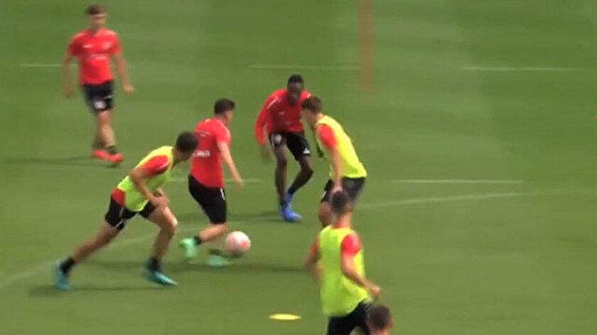 Ömer Faruk Beyazın attığı gol antrenmana damga vurdu