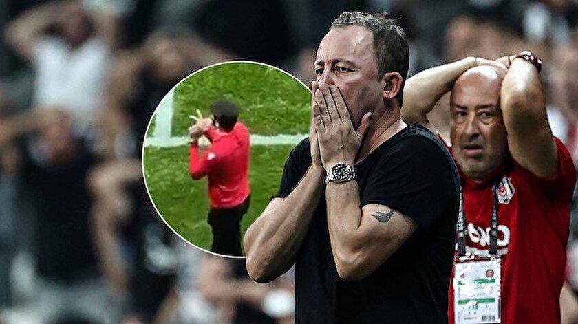 Beşiktaş-Karagümrük maçında yaşanan skandalın görüntüleri ortaya çıktı