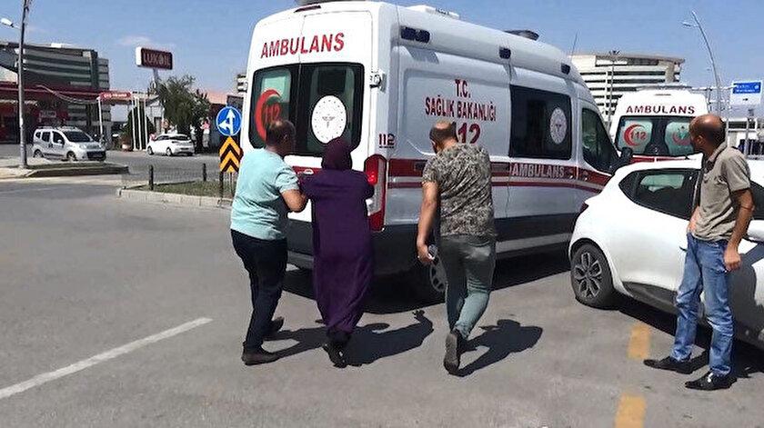 Erzurum haberleri: Kaza yapan kocasını öldü sanıp ambulansın peşine koştu