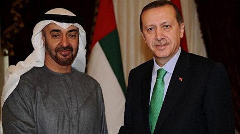 Cumhurbaşkanı Erdoğan Abu Dabi Veliaht Prensi Nahyan ile görüştü