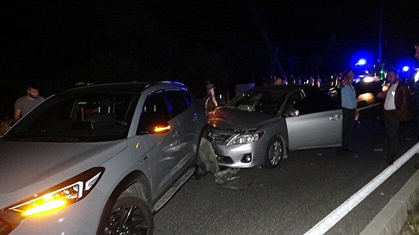 Kazaya bakarken kazaya neden oldu: 7 yaralı