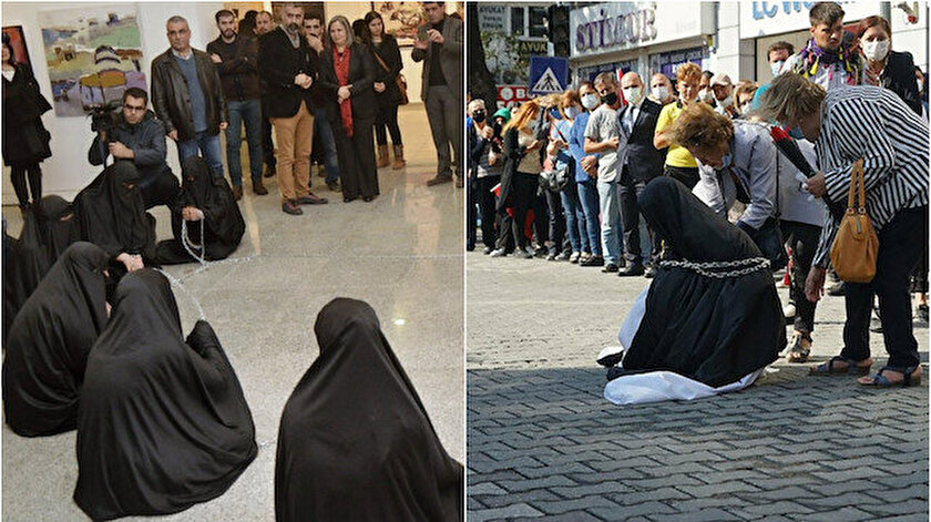Edremitteki Türk kadınını aşağılayan gösterinin bir benzerini yıllar önce HDP de yapmıştı