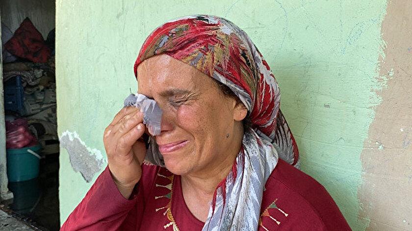 Kirada oturduğu evi yandı: Gözyaşları içinde yardım istedi