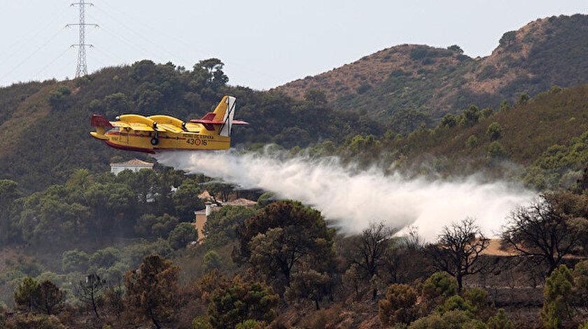 İspanyanın güneyi alevlere teslim: Yangın 5 gündür söndürülemiyor