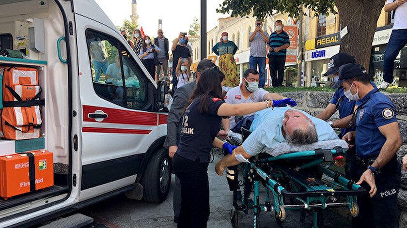 Edirnede 2020 yılı ahisi törende fenalaştı: Ambulansta kalbi durdu