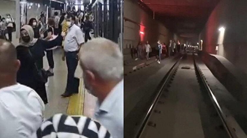T4 Topkapı-Mescid-i Selam Tramvay Hattı arıza yaptı: Yolcular raylarda yürüdü