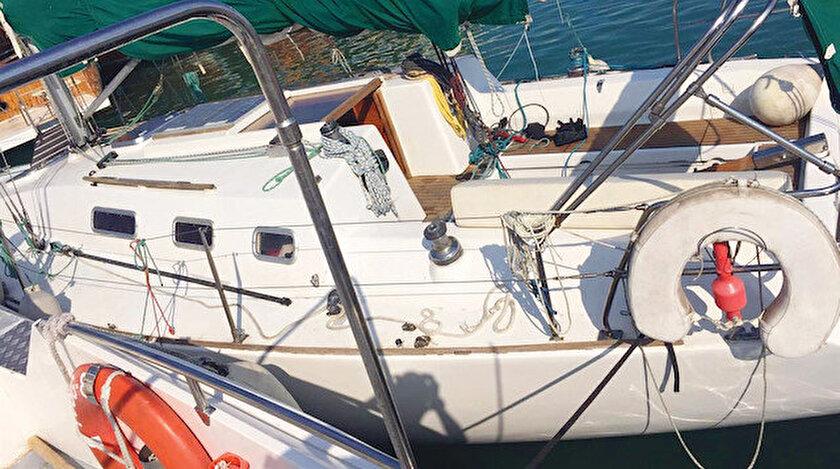 340 bin liralık tekneyle kaçıyorlardı