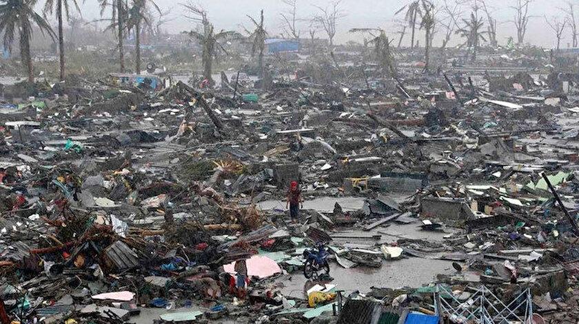Türkiyeden Filipinlerdeki tayfunda hayatını kaybedenler için taziye mesajı