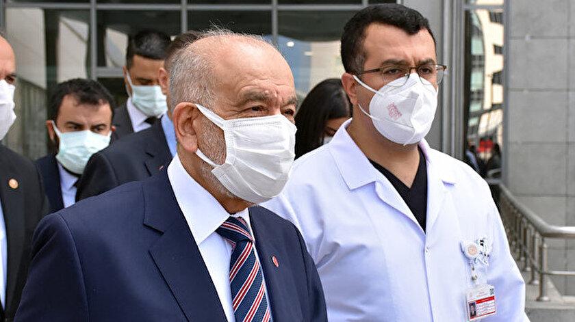 Saadet Partisi Genel Başkanı Temel Karamollaoğlu Oğuzhan Asiltürkü hastanede ziyaret etti