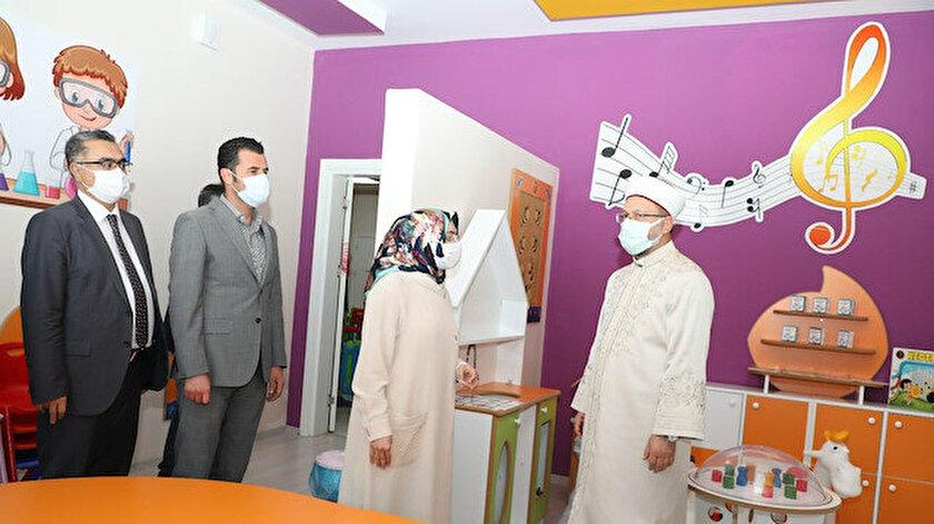 Erbaş Gençlik Ve Kültür Merkezini ziyaret etti