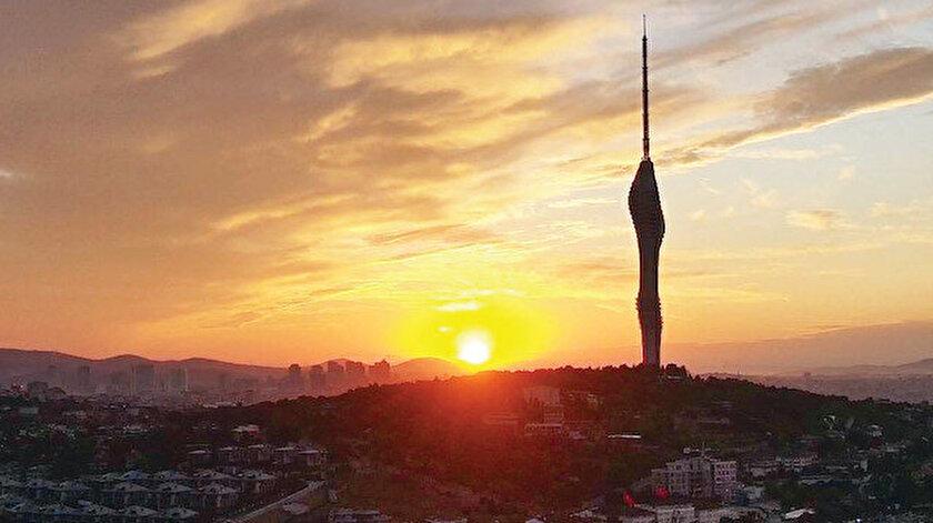 İstanbul'un simgesi kızıl gün doğumu