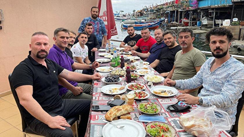 Trabzonsporda buzları eriten yemek