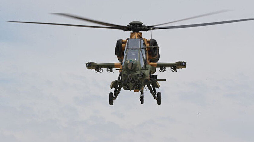 MSB: Pençe Şimşek operasyonda tespit edilen 4 terörist ateş destek vasıtaları ve ATAK helikopterleri ile etkisiz hale getirildi