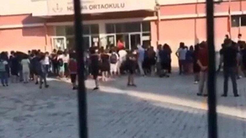 Okulda çekilen görüntü büyük tepki toplamıştı: Çocukları tehdit eden müdür yardımcısı açığa alındı