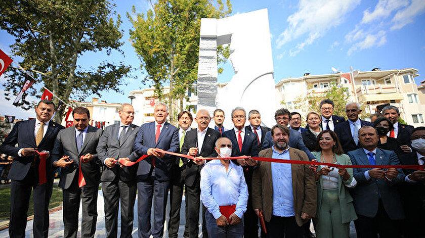 CHPden bir hizmet daha: Lüleburgazdaki anıtın açılışını Kılıçdaroğlu yaptı