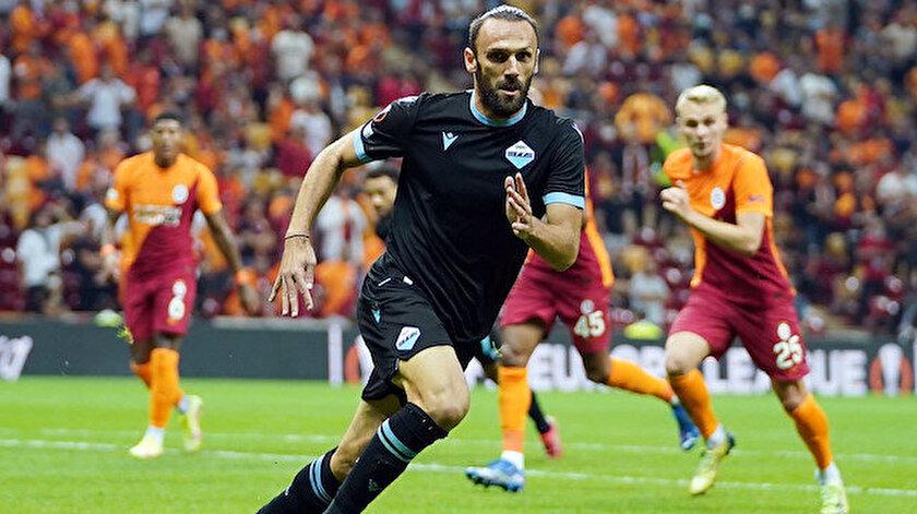 Galatasaray-Lazio maçında Vedat Muriçi şoke eden anlar
