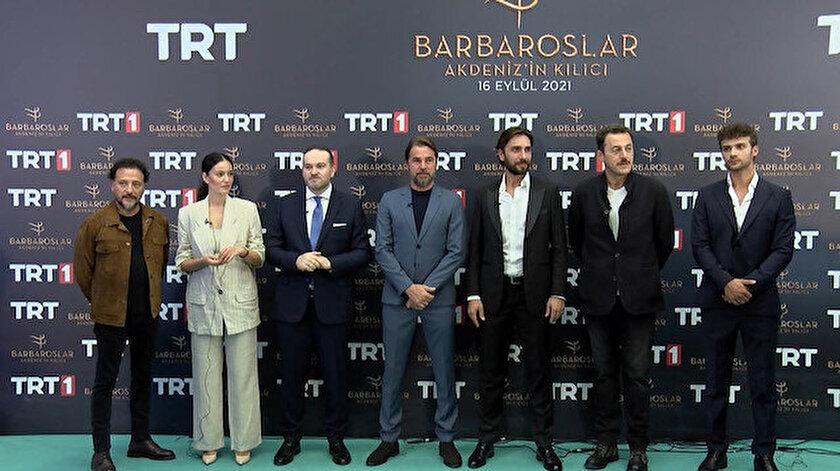 TRTnin merakla beklenen dizisi Barbaroslar Akdenizin Kılıcının galası yapıldı
