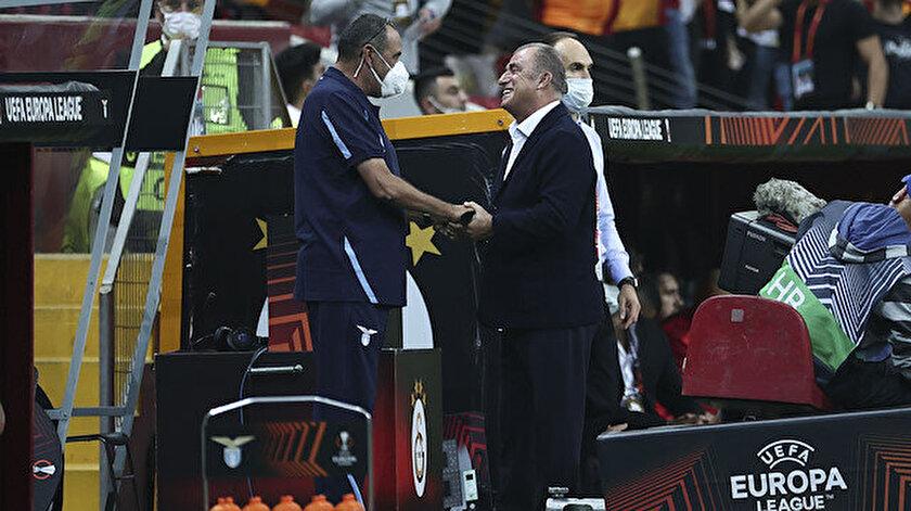 Lazio Teknik Direktörü Sarriden geceye damga vuran hareket