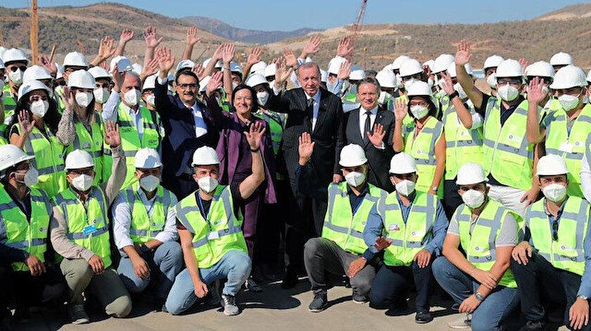 Cumhurbaşkanı Erdoğan Akkuyu Nükleer Güç Santrali sahasında